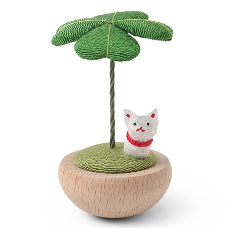 Figurine Clover & Fortune Cat