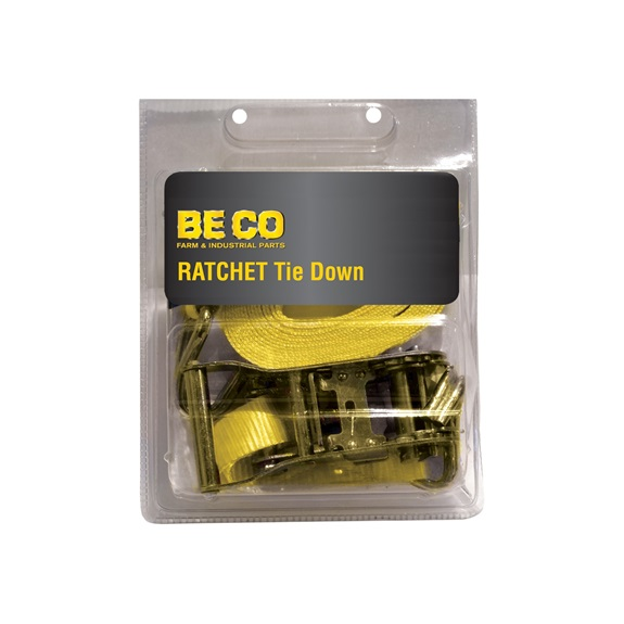 "1"" X 15' Ratchet Strap, Yellow-BOOK"