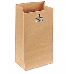 4# HEAVY 52# GROCERY BAG, 5 X 3-1/8 X 9-3/4,