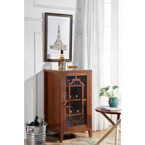 97186 WALNUT WINE CABINET