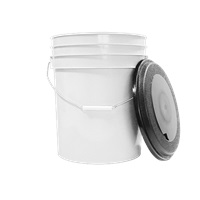 White 5 Gallon Bucket w/ Lid