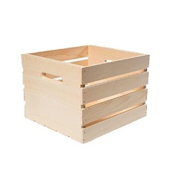 Square Wood Crates