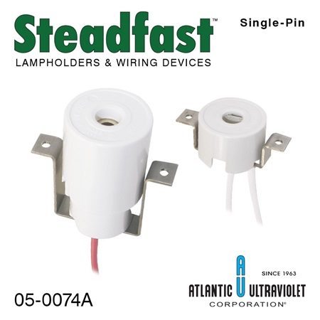 Steadfast Butt-On Single-Pin Lampholders with Brackets