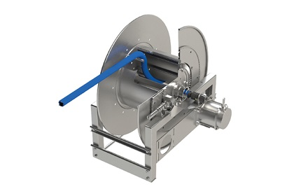 Hannay 8000 Series Chemical / Pass Through Electric Hose Reel | 12V
