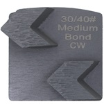 Double Arrow Medium Bond 30/40 Grinder Tooling Compatible with: Husqvarna® Redi Lock®