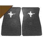 Embroidered Floor Mats (Dark Brown)