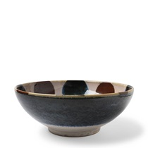 "Rustic Dots 8.5"" Shallow Bowl"