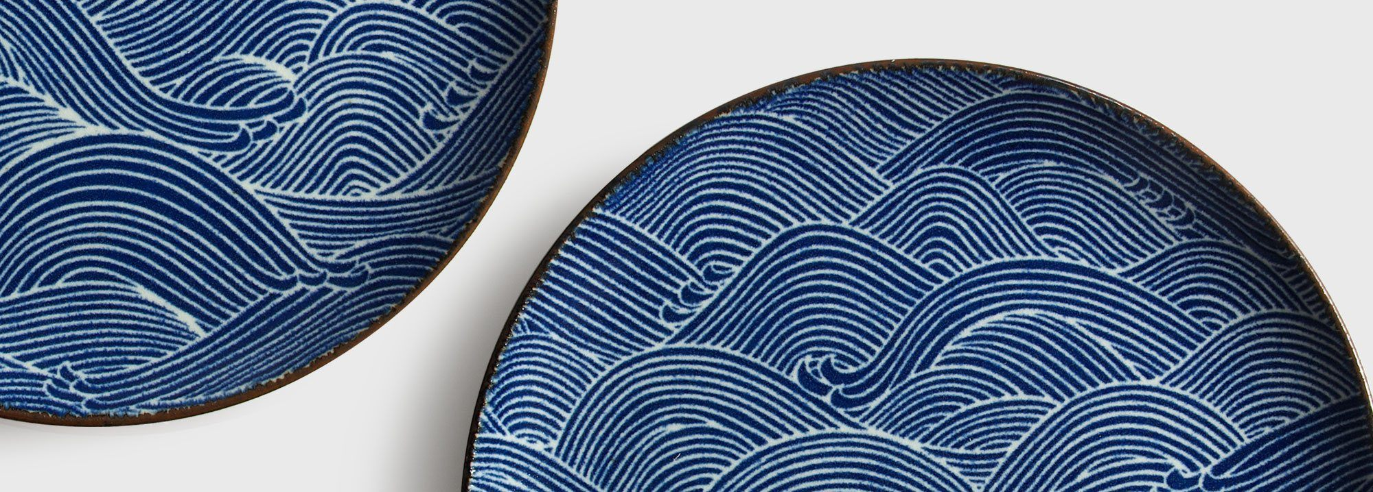 beautifully crafted the aranami wave series brings art to your breakfast lunch dinner and dessert it is blue and white and cool all over