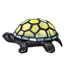 "2.5""H Stained Glass LED Cordless Turtle Accent Lamp"