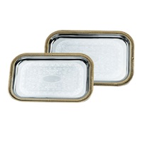 Vollrath 47260 Odyssey Gold Trim Rectangle Tray