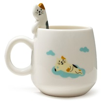 Cat Mug W/ Spoon
