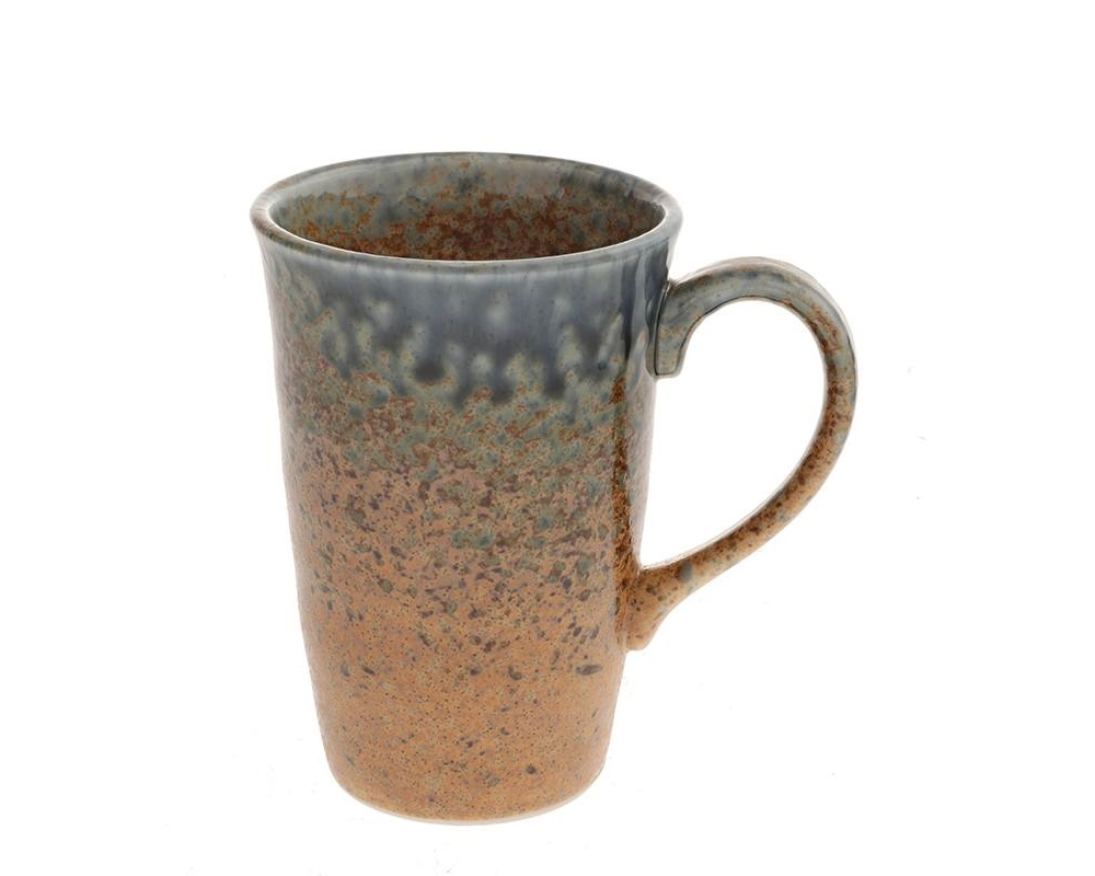 Blue Sand Crackle Mug