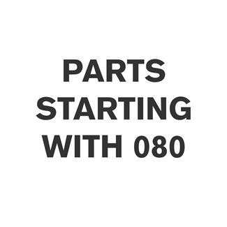 Parts Starting With 080