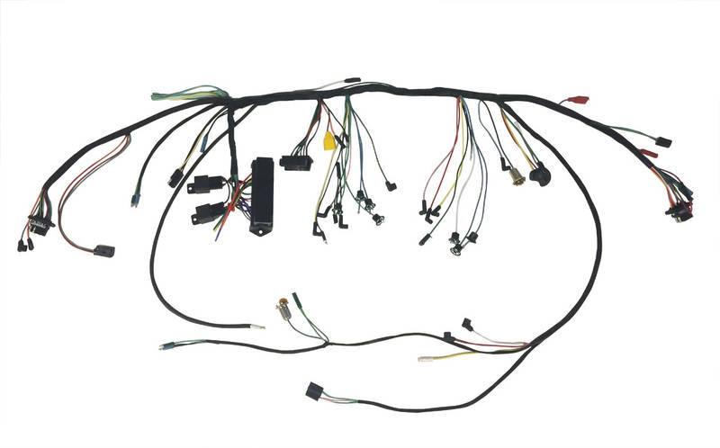 1965 under dash harness w premium fuse box \u0026 relays 2 spd heater \u0026 warning lamps Altima Wire Harness