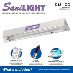 SaniLIGHT D18-1CC Included Accessories