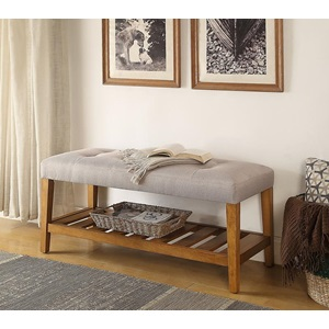 96680 LIGHT GRAY BENCH