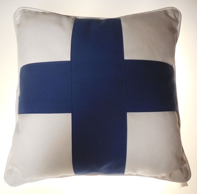 Navy Cross Pillow
