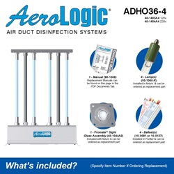 AeroLogic Model ADHO36-4 Included Accessories