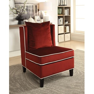 59572 BURGUNDY ACCENT CHAIR