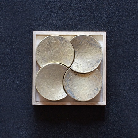 Futagami Brass Moon Chopstick Rest Set/4