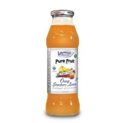 Orange Strawberry Banana Juice, Organic (Lakewood) - 12.5oz (Case of 12)