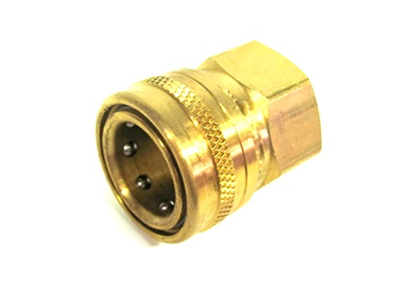"Brass Quick Connect Socket - 3/4"" Female Pipe Thread Inlet"