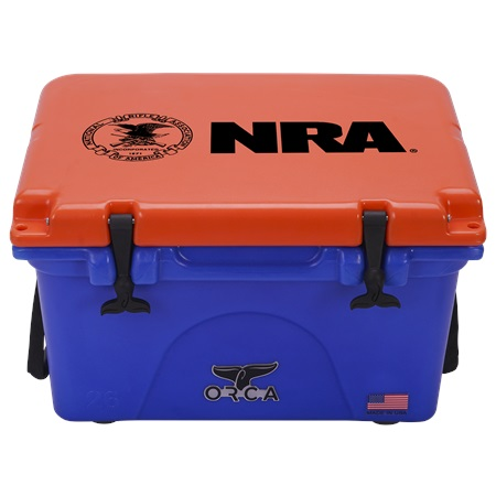 NRA Blue Orange 26qt ORCA Cooler