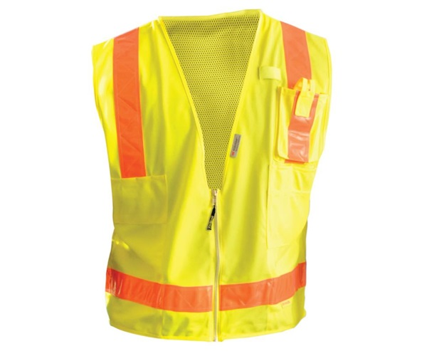 High Visibility Premium Solid/Mesh Gloss Safety Vests
