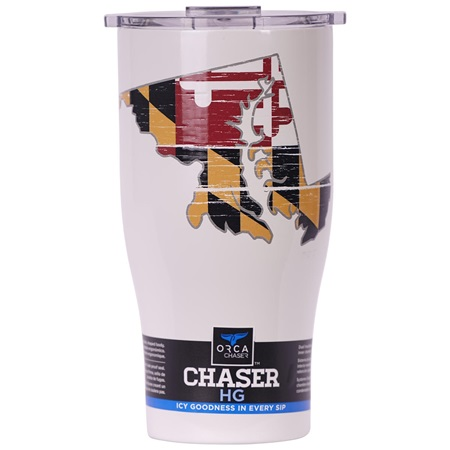 Maryland State Flag Distressed Chaser 27Oz