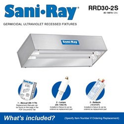 Sani•Ray RRD30-2S Included Accessories