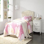 39134 CREAM TWIN HEADBOARD