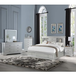 24920Q Louis Philippe III Queen Bed