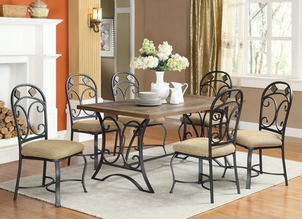 Acme Furniture 71125 Dining Table W Slate Insert