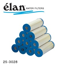 élan™ Filters: 20 Micron Pleated Cartridges with Blue End (Case of 24)