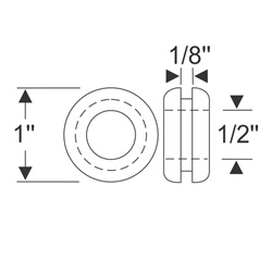 "Multi-Purpose Grommet 1"" x 1/8"""