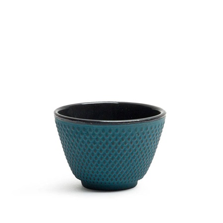 CAST IRON TEACUP - BLUE