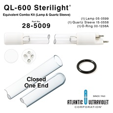 QL-600 Viqua™ / Sterilight® Equivalent Combo Kit (Lamp, Quartz Sleeve, O-rings)