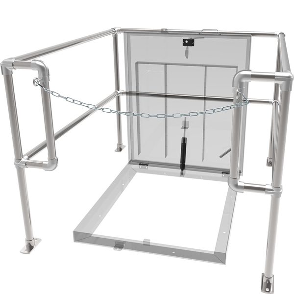 Front Chain Floor Door Safety Railing Click to view a larger image  sc 1 st  Babcock-Davis & Floor Door Safety Railing | Babcock-Davis