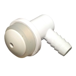 "AIR INJECTOR: 3/8"" BARB VERTICAL BODY WHITE"