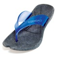 Zendals Resort Thong Spa Sandal, Ocean Blue-Small