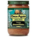 Organic Almond Butter, Lightly Toasted, Creamy - 16oz