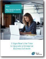 5 Signs it's time to Upgrade your ERP White Paper