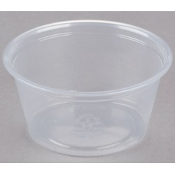 200PC DART 2 OZ CLEAR PLASTIC SOUFFLE PORTION CUP, 2500/CS