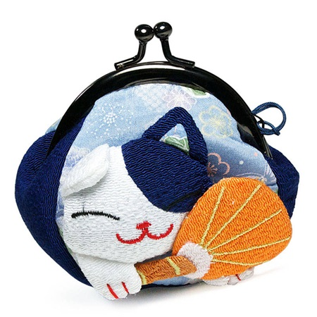 FORTUNE CAT COIN PURSE - BLUE