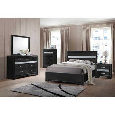 25915F NAIMA BLACK FULL BED
