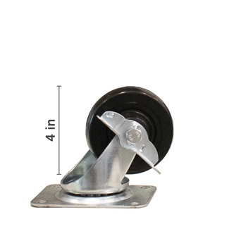 4 inch Swivel With Side Locking Brake