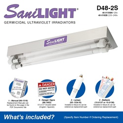 SaniLIGHT D48-2S Included Accessories