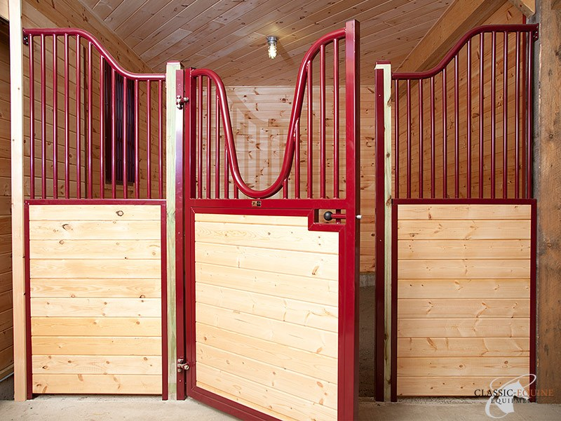 Hinged Horse Stall #19 & Hinged Horse stall doors | Best Quality Horse Stalls made in the USA