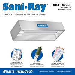 Sani•Ray RRDHO36-2S Included Accessories