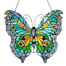 "20.5""H Tiffany Style Swallowtail Butterfly Panel"